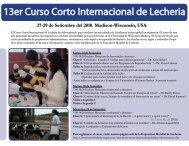 13er Curso Corto Internacional de Lecheria - Babcock Institute ...