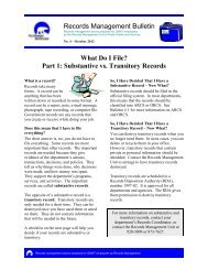 Substantive vs. Transitory Records - Department of Public Works ...