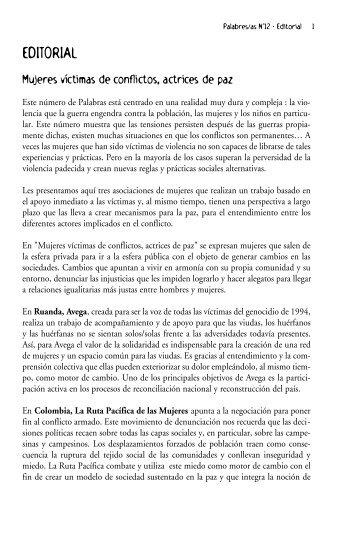 Palabras de mujeres - Le Monde selon les femmes