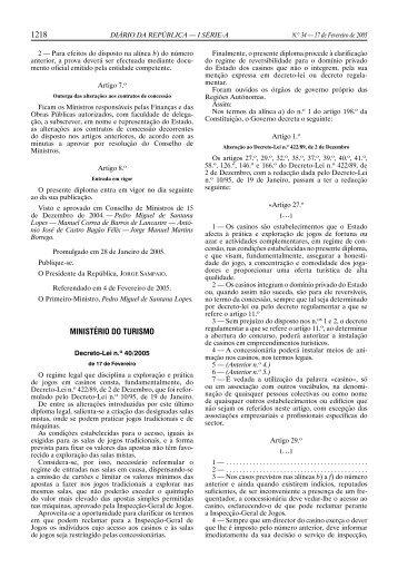 DL nº 40/2005