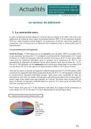 Le secteur du bâtiment 1. La construction neuve - CESER Ile-de ...