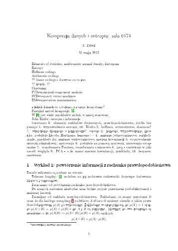 Wykłady 1-9