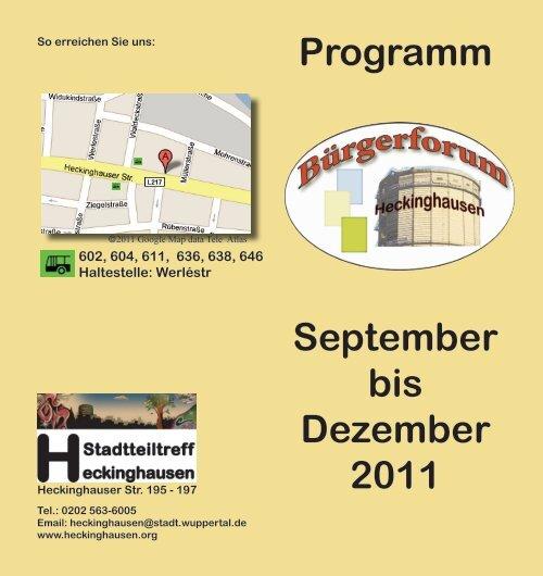 Programm September bis Dezember 2011 - Stadt Wuppertal
