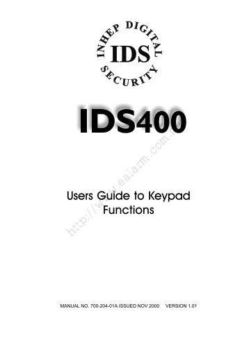 IDS alarm system, IDS400 - User manual - Ealarm.com.my