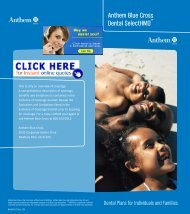 Anthem Blue Cross Dental SelectHMOSM - Health Insurance