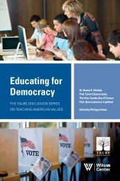 Educating for Democracy - Woodrow Wilson International Center for ...