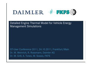 Detailed Engine Thermal Model for Vehicle Energy Management ...