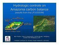Hydrologic controls on Amazonia carbon balance - Climatemodeling ...