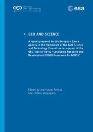 → GEO AND SCIENCE - Group on Earth Observations