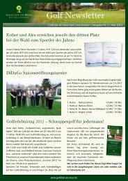 Newsletter Mai 2012 - Golfclub am Meer - Bad Zwischenahn