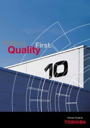 What is Quality? - Toshiba