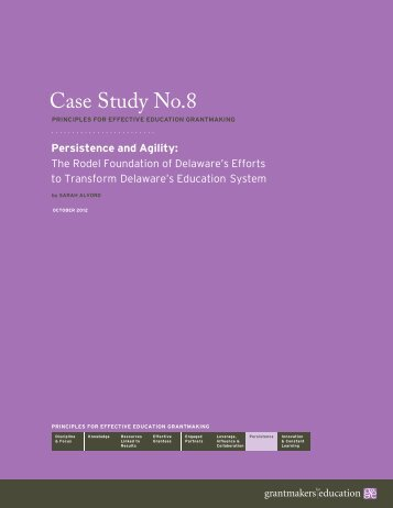 Case Study No.8 - Grantmakers for Education