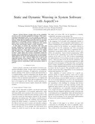 Static and Dynamic Weaving in System Software with AspectC++ - DoI