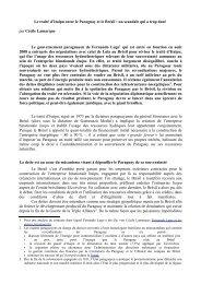 Le traité d'Itaipu entre le Paraguay et le Brésil : un scandale ... - cadtm