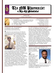 The NU Pharmacist – Spring 2007 - Northeastern University