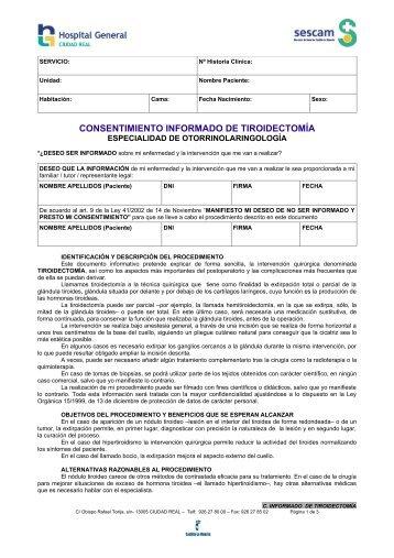 CONSENTIMIENTO INFORMADO DE TIROIDECTOMÍA - hgucr