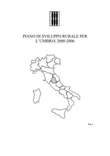 PIANO DI SVILUPPO RURALE PER L'UMBRIA 2000-2006 - Inea