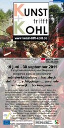 events&programm events&programma - Kunst trifft Kohl