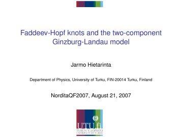 Faddeev-Hopf knots and the two-component Ginzburg-Landau model