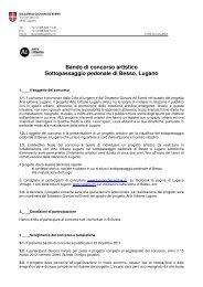 Bando di concorso artistico Sottopassaggio pedonale di ... - Tafter