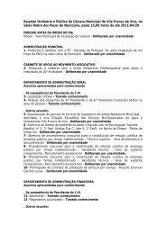 Reunião Ordinária e Pública da Câmara Municipal de Vila Franca ...