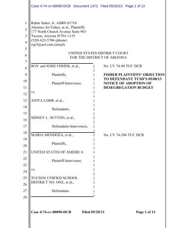 Case 4:74-cv-00090-DCB Filed 05/20/13 Page 1 of ... - Tucson Weekly