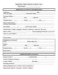 Team Member Application - FBC Alexandria
