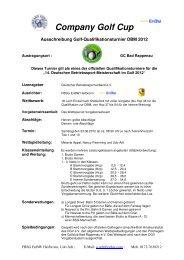 Company Golf Cup - 14. Deutsche Betriebssport-Meisterschaft im ...
