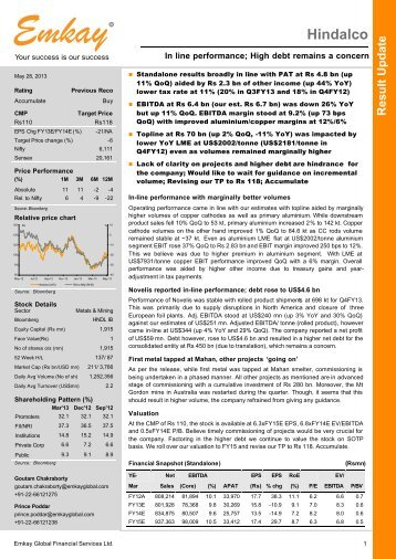 Hindalco Q4FY13 Result Update - Emkay Global Financial Services ...