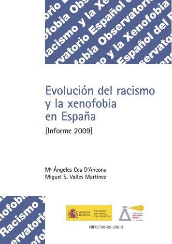 Evolución del racismo y la xenofobia en España - El País