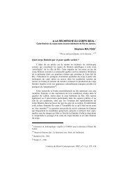 A LA RECHERCHE DU CORPS IDEAL - Maison des sciences de l ...