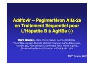 Peginterferon Alfa-2a en Traitement Séquentiel pour L ... - Afef
