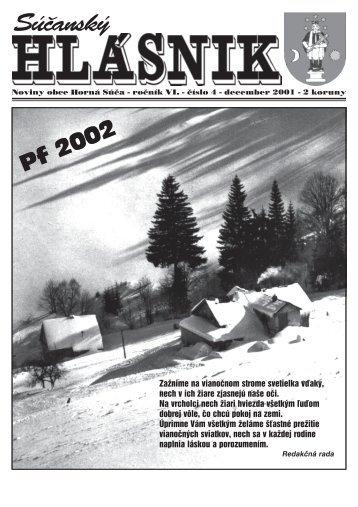 Súčanský hlásnik 2001 číslo 4 (pdf) - Horná Súča