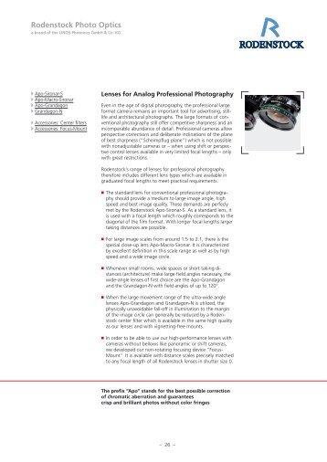 Rodenstock Photo Optics