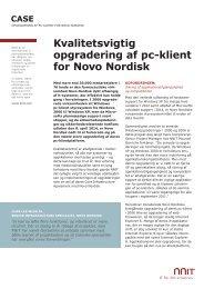 Kvalitetsvigtig opgradering af pc-klient for Novo Nordisk - NNIT