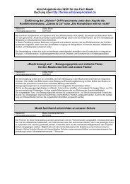 Abruf-Angebote des IQSH für das Fach Musik Buchung über http ...