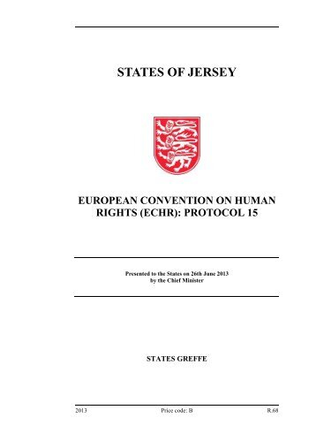 European Convention on Human Rights (ECHR ... - States Assembly