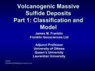 Classification and Key Characteristics of VMS Deposits