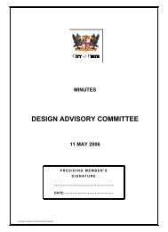 DESIGN ADVISORY COMMITTEE - City of Perth