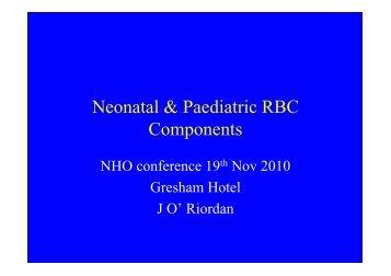 Neonatal & Paediatric RBC Components