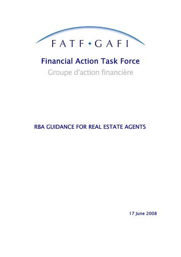 RBA Guidance for Real Estate Agents.pdf - FATF