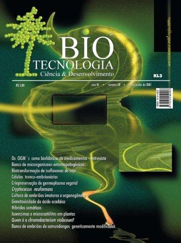 R$ 5,00 ano IV • número 20 • maio/junho de 2001 - Biotecnologia