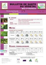 BSV VIGNE N°4 du 07/05/2013 - Chambre régionale d'agriculture ...