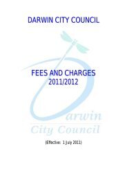 DARWIN CITY COUNCIL FEES AND CHARGES 2011/2012