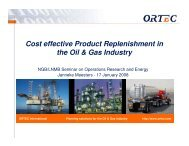 Cost effective Product Replenishment in the Oil & Gas Industry - LNMB