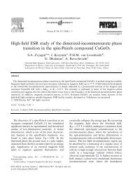 High-field ESR study of the dimerized-incommensurate phase ...