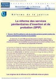 La réforme des services pénitentiaires d'insertion et ... - Vie publique