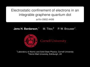 Electrostatic confinement of electrons in an integrable graphene ...