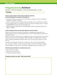 Pedagogisk planering Världshavet - Sanoma Utbildning
