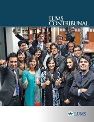 LUMS CONTRIBUNAL - Lahore University of Management Sciences